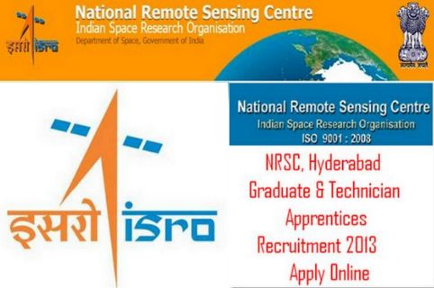 NRSC Recruitment 2013 - Apply Online for 54 Apprentice & JRF Posts