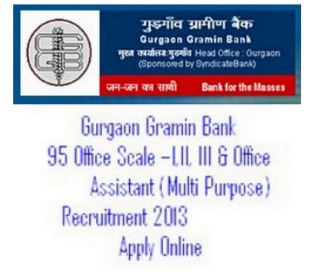 Gurgaon Gramin Bank Recruitment 2013-14
