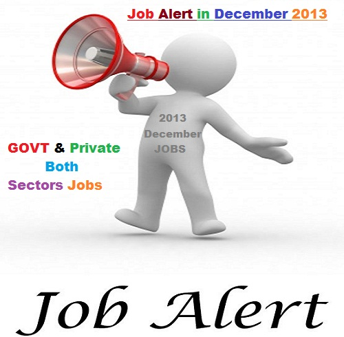 Latest Vacancies in India for Govt and Private Jobs December 2013