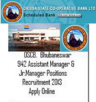 OSCB Recruitment 2013 - 942 Vacancies for Asst & Junior Manager