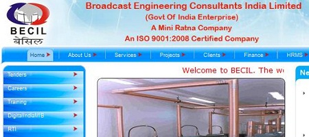 BECIL Recruitment 2014 Vacancy Details