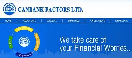 Canbank Factors Limited CBF Recruitment 2014 Vacancy Details