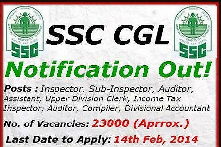 SSC CGL Recruitment 2014 Online Application form www.ssconline.nic.in