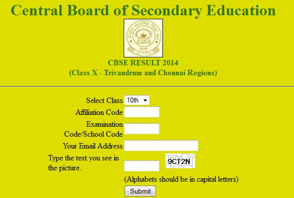find cbse 10th result